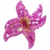 Motif Beaded With Pin Flower Fuchsia